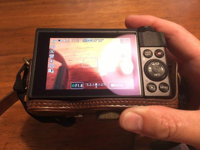 キャノンg7 x mark ii用 液晶保護フィルム「液晶画面の映り込み」