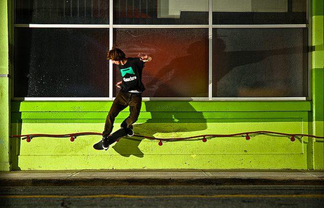 スケボートリック:バックサイドテールスライドの練習方法