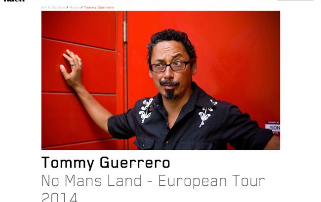 トミー・ゲレロ ヨーロッパツアー2014