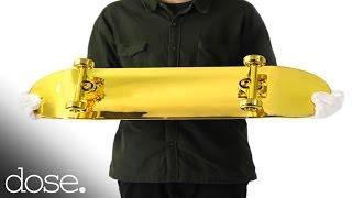 スケボーは壁に掛けて飾っておこう!ゴールドメッキのスケボーの製造行程
