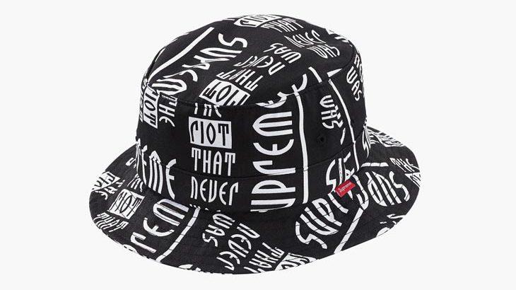 シュプリーム「Riot Bucket Hats(ライオット・バケット・ハット)」リリース